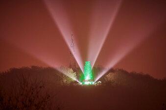 So schön leuchtet das Windbergdenkmal