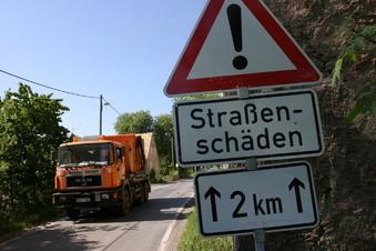 Weniger Geld für den Straßenbau in Sachsen