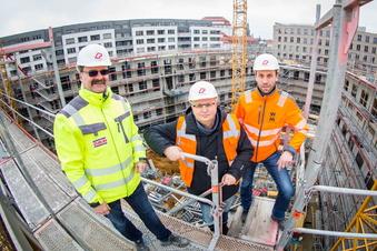 Postplatz Dresden: Neubau nimmt Gestalt an