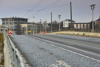 Erste Arbeiten an Albertbrücke
