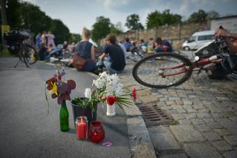 Mahnwache für toten Radfahrer