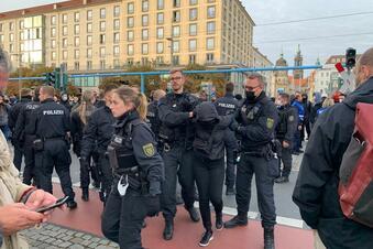 Festnahme bei Demo in Dresden