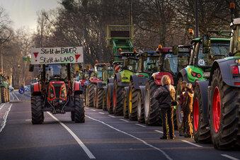 Traktordemo legt Dresdens Innenstadt lahm