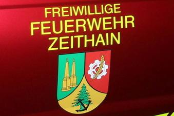 Zeithain: Bagger trifft Gasleitung