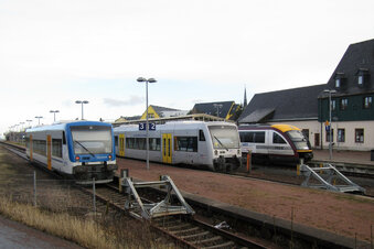 Triebwagen-Vielfalt in Altenberg