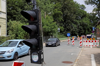 Baustelle frustriert Autofahrer