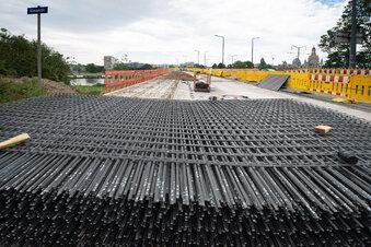 Carbonmatten für Dresdner Carolabrücke