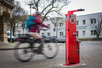 Neue Werkzeug-Station fürs Rad in Dresden