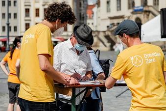 Dresdner Klimaschützer sammeln Unterschriften