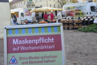 Maskenpflicht auf dem Wochenmarkt