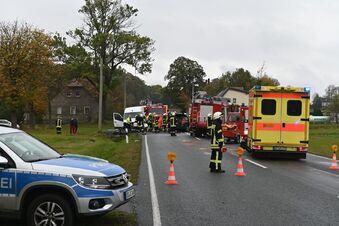 Unfall auf der S148: Acht Menschen verletzt