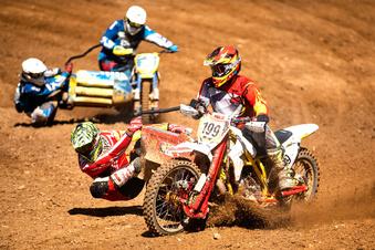 Motocross-Starter beweisen Mut