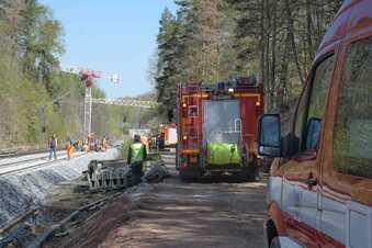 Brand in Waldheim: Zugverkehr gestoppt