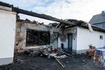 Feuer zerstört Wohnhaus bei Waldheim
