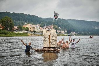 Burg Wehlen geht baden