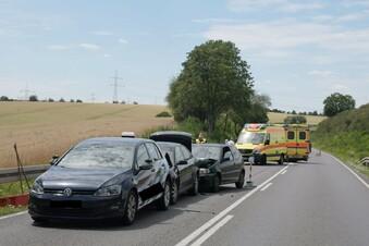 B169: Vier Verletzte bei Auffahrunfall