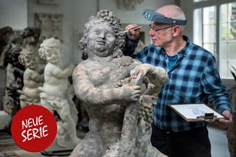 Schönheitskur für die Zwinger-Skulpturen
