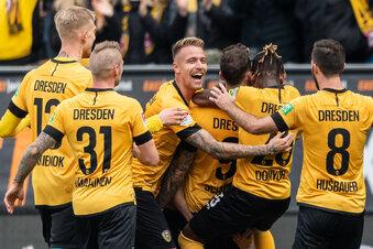 Dynamo siegt gegen Aue dank Kampf und Moral