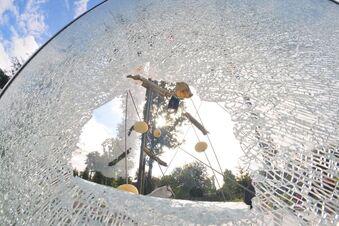 Tornado-Denkmal zerstört