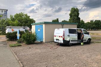 Reparaturarbeiten nach Stromausfällen in Riesa