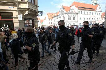 Unangemeldete Demo in Pirna aufgelöst