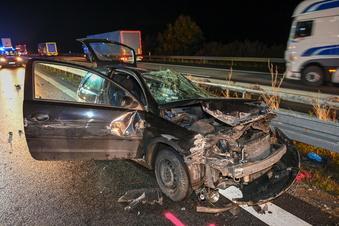 A4: Geisterfahrer wird bei Unfall schwer verletzt