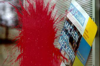 Vandalismus statt Worte