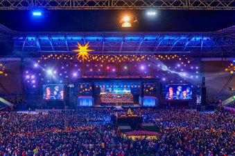 Adventskonzert im Stadion begeistert 25.000 Menschen