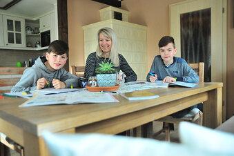 Pause vom Lernen am Küchentisch