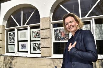 Dresdner Hotel-Fenster werden zur Galerie