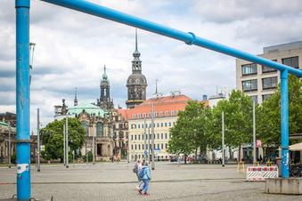 Wann verschwinden die blauen Rohre aus Dresden?