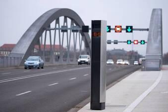 Bisher rund 7.800 Fahrzeuge auf der Waldschlößchenbrücke geblitzt