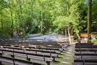 Wasser spielt Hauptrolle auf Naturbühne Maxen