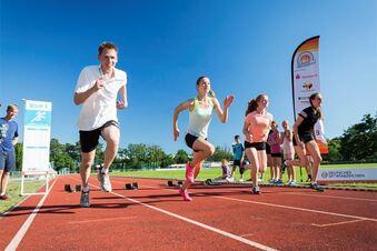 Frank Busemann bei Sportabzeichentag