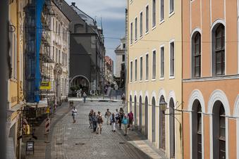 Fußgängerzone Neißstraße hängt von Bürgern ab