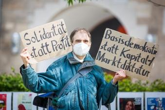 Dresden: Einsame Kundgebungen zum 1. Mai