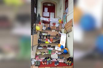 Warum in Priestewitz die Schuhe weg sind