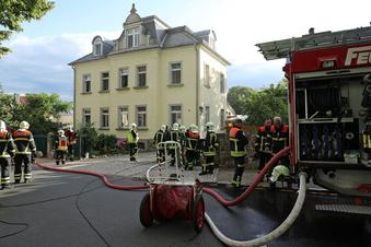 Knall und Feuerwehreinsatz im Osten von Radebeul