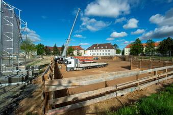 Baustopp bei Heidenaus neuer Mitte?