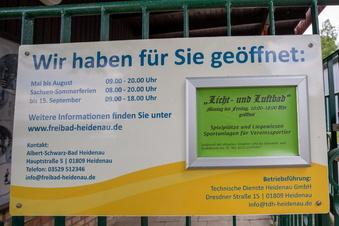 Heidenauer Bad öffnet am 1. Juni