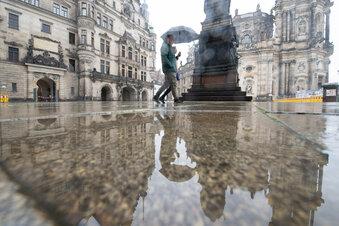 Der Regen kommt nach Dresden