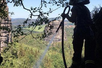 Brand im Nationalpark: Feuerwehr in Gefahr