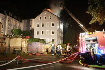Frisch saniertes Haus zerstört