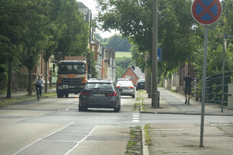 Vollsperrung auf der Roßweiner Straße