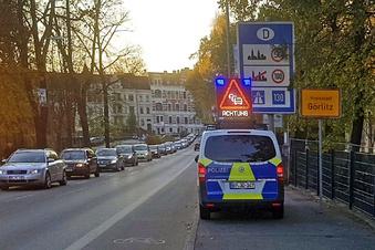 So lief die Grenzkontrolle an der Stadtbrücke