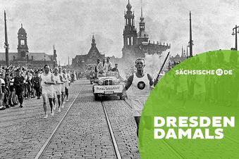 Die Olympische Flamme kommt nach Dresden