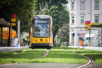 Strecke für neue Dresdner Straßenbahnen fertig