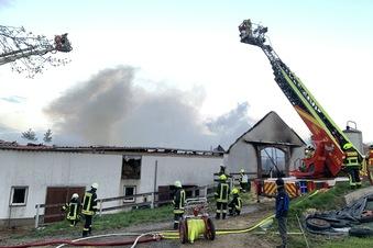Großbrand bei Glashütte