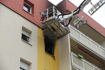 Wohnungsbrand im Coswiger Plattenbauviertel