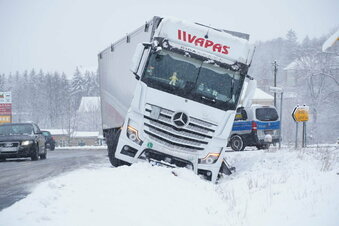 Erneut Glätte-Unfälle in Löbau-Zittau